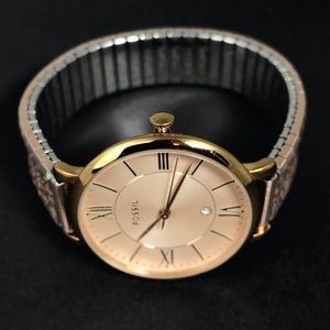 Fossil Womens Watch Rose Gold Plate Easy On
